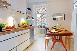 Plissee Küche
